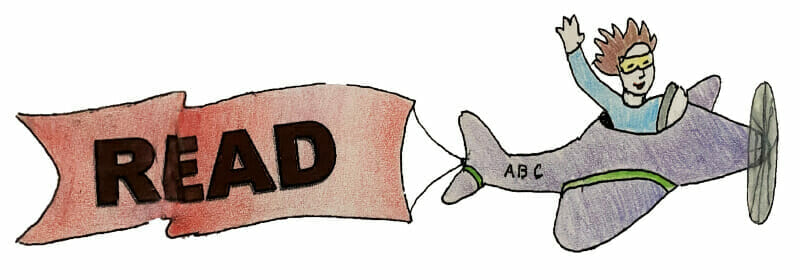 Read Banner with Banner attached to flying airplane